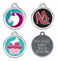 Red Dingo Engraved Pet ID Tags