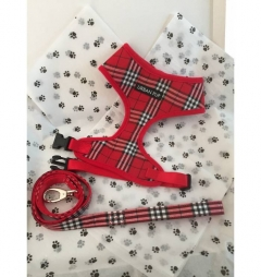 Urban Pup Red Check Tartan Gift Box Set