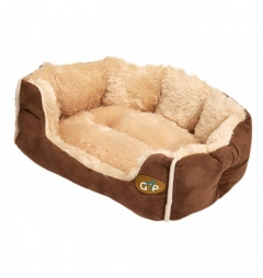 Gor Pets Luxury Brown Nordic Snuggle Bed for Small Breeds or Puppies
