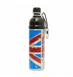 Long Paws Pet Dog/Puppy Lick n Flow Water Bottles 750ml Union Jack