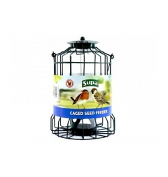 Supa Wild Bird Caged Seed Feeder - Squirrel Proof