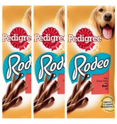 Pedigree Rodeo Beef Variety - Special Offer 3 Pack (24 sticks)
