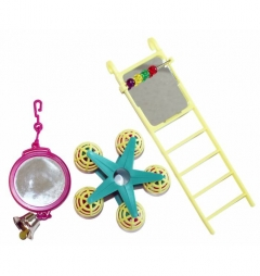 Happypet Bird Toy Multipack Mirror/Ladder/Carousel