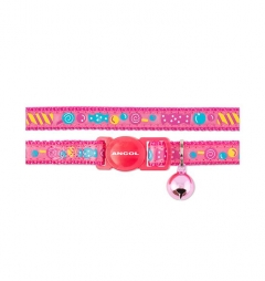 Ancol Sweeties Cat Collar with Safety Buckle - Pink