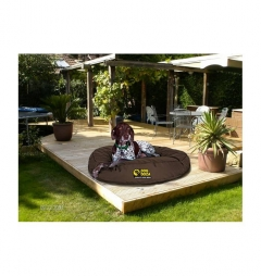 Dog Doza Waterproof Round Bed - Brown