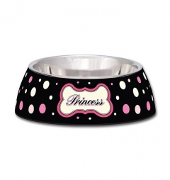 Loving Pets Polkadot Princess Milano Dog Bowl