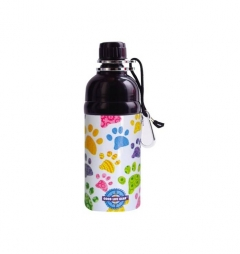 Long Paws Pet Dog/Puppy Lick n Flow Water Bottles 500ml Paws