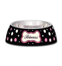 Loving Pets Polkadot Princess Milano Cat Bowl - Small