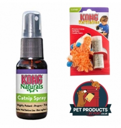 Kong Bright Fox Refillable Catnip Toy and 30ml Spray Catnip