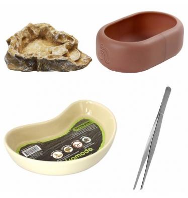 Komodo Reptile Food Bowl Bundle