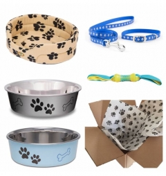Puppy Starter Kit for Boy - Classic Pawprint