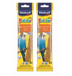 Vitakraft Budgie Stick Honey and Sesame 60g - Multibuy 2 packs (4 sticks)