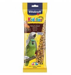 Vitakraft Kracker Cockatiels Honey and Aniseed Stick   Multibuy - 2 Packs (4 sticks)