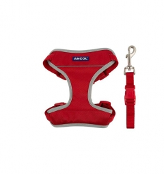 Ancol Travel Dog Harness Red